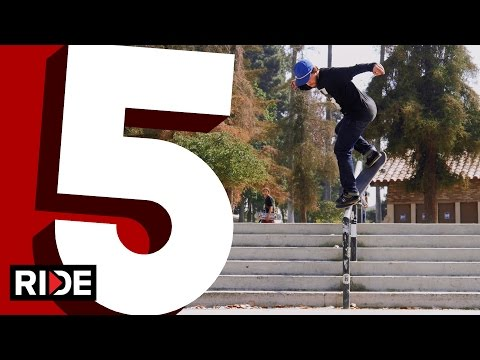 David Reyes' Five Favorite Handrail Tricks