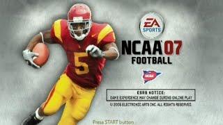 NCAA FOOTBALL 2007 PS2 GAMEPLAY - CAL VS MIAMI