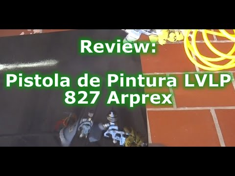 Avaliação (Review) - Pistola de Pintura LVLP 827 Arprex