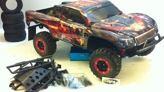 TRAXXAS SLASH LCG FULL RPM-STAINLESS-DYED CHASSIS UPGRADES!!!