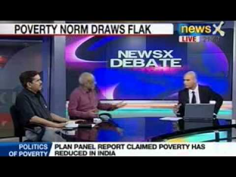 Newsx Debate: Plan Panel report claimed Poverty has reduced in India?