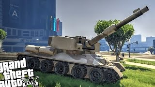 New Tank Mod! Custom T-34 (Grand Theft Auto 5 PC - New Tank Mod)