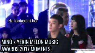 MINO x YERIN 2017 MMA MOMENTS (Part 1) All credits to fansites who owned the clips