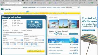 Selecting Flights on Expedia