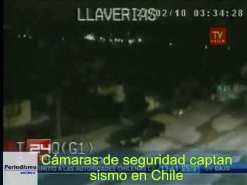 Terremoto en Chile. Difunden primeras imágenes de cámaras de seguridad