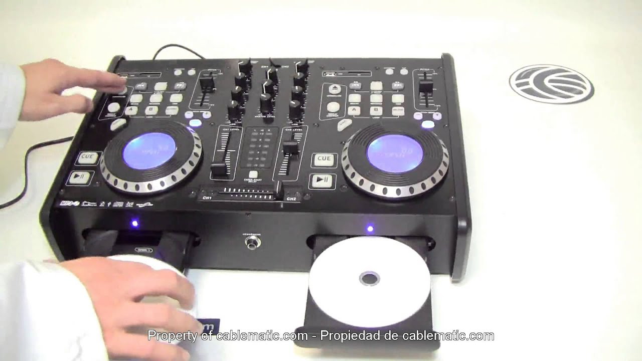 Reproductor y mezclador CD MP3 USB SD dual DJ modelo 500CT ...