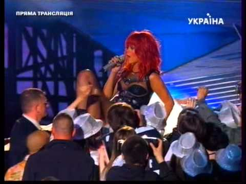 Rihanna Performing   What s My Name   (ReMiX) at Shakhtar Donetsk 75th Anniversary