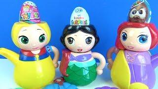 Disney prensesleri yanlış kafalar Ariel Rapunzel Pamuk prensesle Toybox Kinder Ozmo sürpriz yumurta