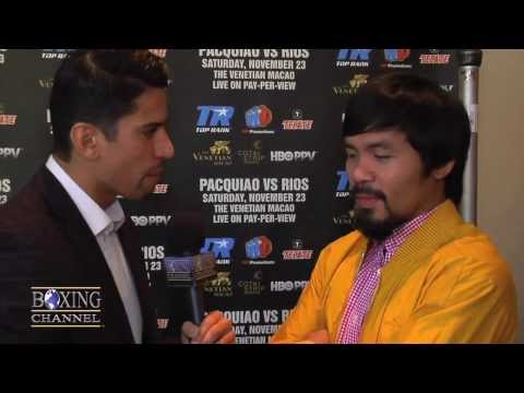 "Manny Pacquiao to Mayweather, ""If I'm old, I'm a easy fight. fight me!"""