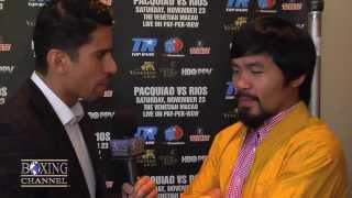"Manny Pacquiao to Mayweather, ""If I"