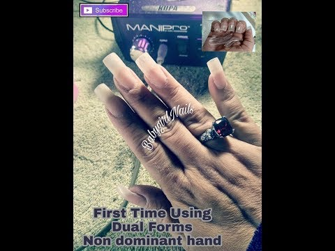 How To: Making a Nail Tip Using Dual Forms & Hard Gel