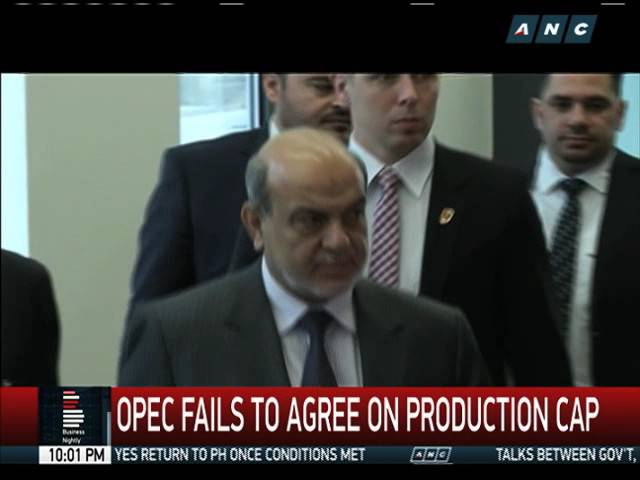 OPEC fails to agree on production cap