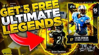 HOW TO GET 5 FREE 96+ ULTIMATE LEGEND CARDS! EASILY MAKE 500K-1.5 MIL! MADDEN 20 ULTIMATE TEAM