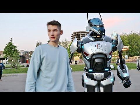ВЛОГ - Как снимали Пранк с РОБОТОМ