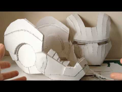 Iron Man helmet Pepakura tutorial Part 1  (software. scaling. printing and building)