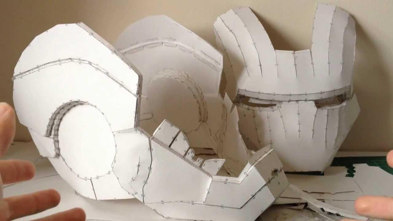 Tutorial Helmet Iron Man Iron Man Helmet Pepakura
