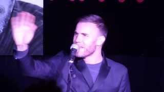 "Gary Barlow sings ""Back For Good"" @ HMV Album Signing London - 25/11/13"