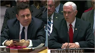 39Mr. Ambassador, you shouldn39t be here39 - Pence to Venezuela rep during  UN Security Council