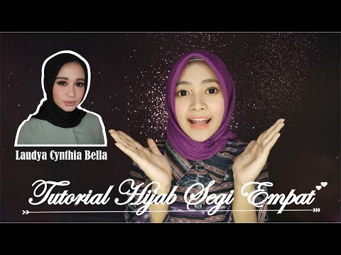 Tutorial Hijab Segi Empat ala Laudya Cynthia Bella | Seftin Prahaswati