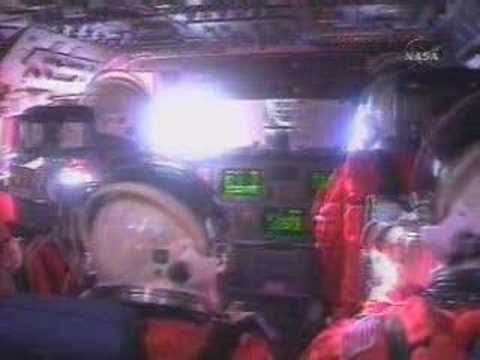 space shuttle reentry from cockpit - photo #16