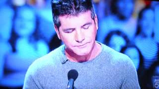 Simon Cowell Teared - Most Touching XFactor Audition 9-12- 2012 Jillian Inspired By Demi Lovato