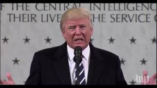 Trump assaults the media in CIA discourse and acclaims his decision win