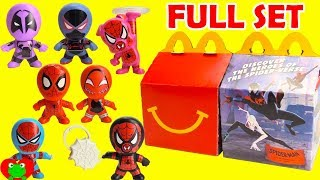 2018 Spiderman Into the Spider-Verse McDonald's Happy Meal Toys Full Set
