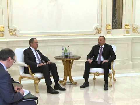 Sergey Lavrov and Ilham Aliev talks / Переговоры С.Лаврова и И.Алиева