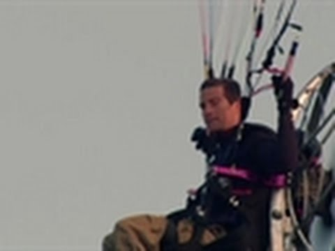 Adrenaline Lab - Bear Grylls Paraglides Everest