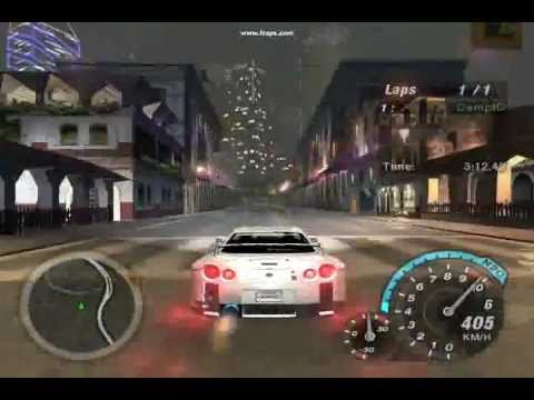 Need For Speed Underground 2 How To Get 412 km/h Using Skyline GTR