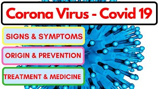 Signs And Symptoms of Corona Virus - Covid 19 Signs And Symptoms - Corona Virus Treatment