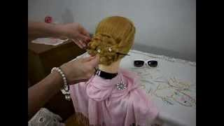 Coque de trança com palito japones - Bun braid hairstyle using a hair stick