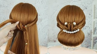 Bridal Low Bun Hairstyles | Elegant Updo Hairstyles Quick And Easy | Updo Hairstyles With Braids