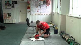 Preparation of Kbs handle by Igor Morozov - RGSI kettlebell workout