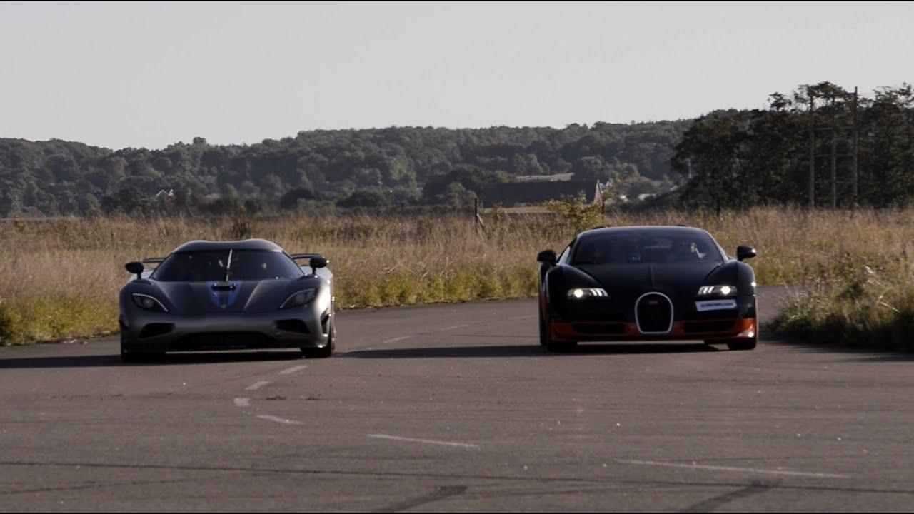 1200 hp bugatti veyron vitesse vs koenigsegg agera r x 4 races youtube. Black Bedroom Furniture Sets. Home Design Ideas