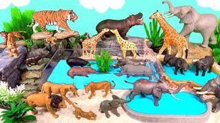 Wild Zoo Animals Toys Baby Mom Learn Animals Names Education Toys for Kids