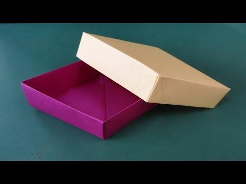 折り紙「ひし形の箱」折り方 ... : 折り紙箱折り方長方形 : 折り方