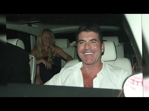 Simon Cowell Celebrates Britain's Got Talent Final After Egg Attack - Splash News