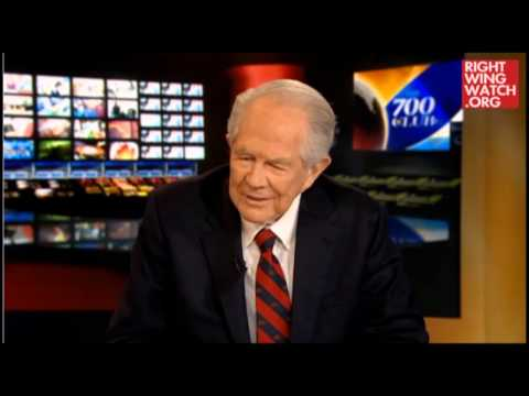 Pat Robertson Realizes Creationism Is A Joke video