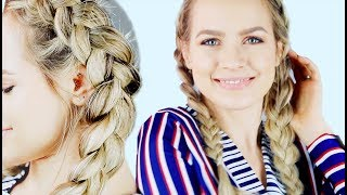 How To Dutch Braid for Beginners hair tutorial! - KayleyMelissa