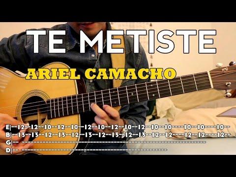 Ariel Camacho - Te Metiste - Tutorial - Requinto - Acordes - Como Tocar En Guitarra