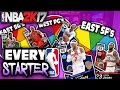 SPIN THE WHEEL OF EVERY STARTER IN THE LEAGUE! NBA 2K17 SQUAD BUILDER -