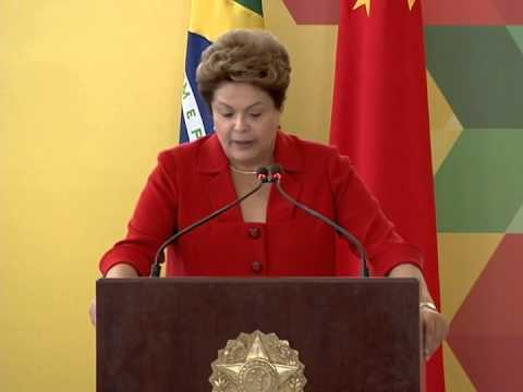 Dilma Rousseff recebe presidente da China, Xi Jinping