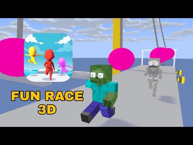 Monster School : FUN RACE 3D CHALLENGE - MINECRAFT ANIMATION thumbnail