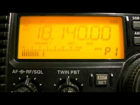 18140khz,Amateur radio, Listened in Moscow.