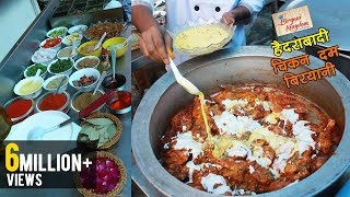 चिकन दम बिर्यानी - Hyderabadi Chicken Dum Biryani - Step by Step Original Recipe In Hindi