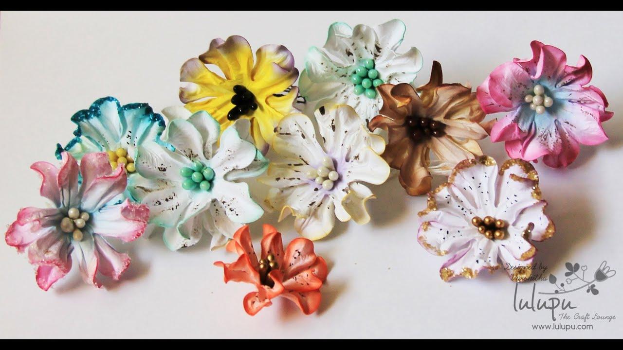 How to tutorial on handmade paper gardenia flowers youtube for Handmade paper flowers tutorial