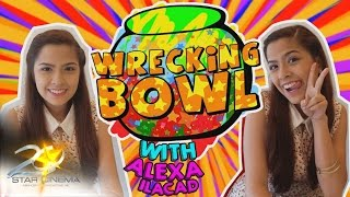 Part 1 Alexa Ilacad answers the questions from the Wrecking Bowl