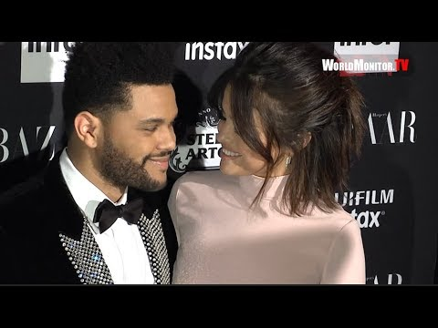 Selena Gomez, The Weeknd arrive at 2017 Harper's Bazaar Icons Party thumbnail
