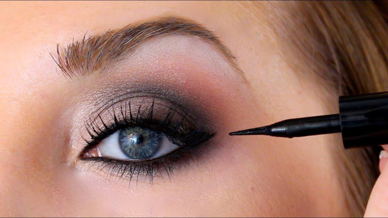 eye brightening smokey eye makeup tutorial
